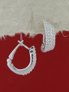 Сребърни обеци E140159