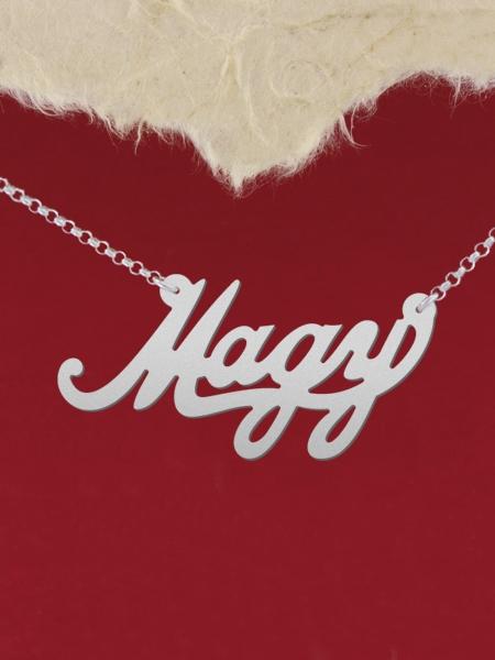 """Сребърно колие с име """"Magy"""""""