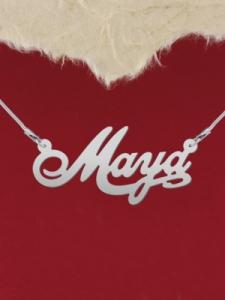 """Сребърно колие с име """"Maya"""""""