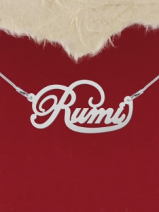 Сребърно колие с име ''Rumi''