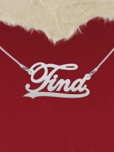 """Сребърно колие с име """"Tina"""""""