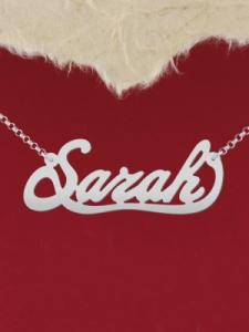 """Сребърно колие с име """"Sarah"""""""