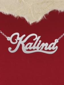 """Сребърно колие с име """"Kalina"""""""