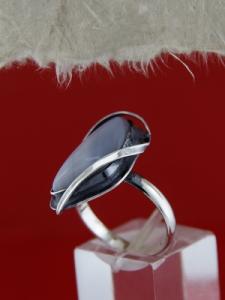 Сребърен пръстен RKWS11 - Ивичест ахат