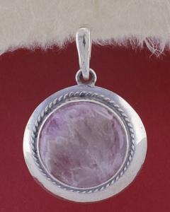 Сребърен медальон PKWS12 - Аметист