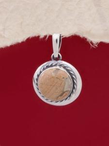 Сребърен медальон PKWS12 - Брекча яспис