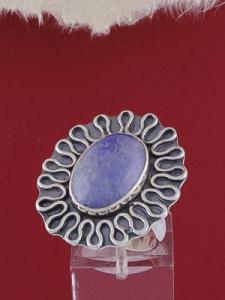 Сребърен пръстен RKWS20 - Син кварц