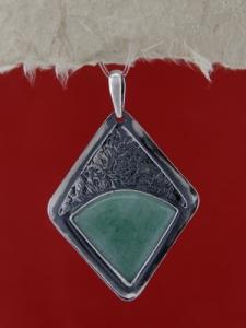 Сребърен медальон PKWS15 - Авантюрин