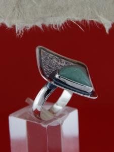 Сребърен пръстен RKWS15 - Авантюрин