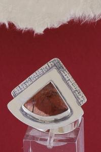 Сребърен пръстен RKWS19 - Брекча яспис
