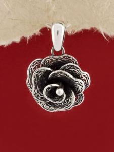 Сребърен медальон филигран STP103