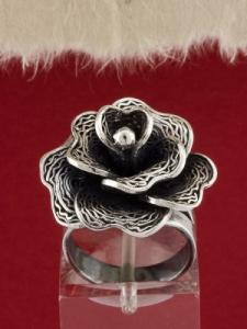 Сребърен пръстен филигран STR103