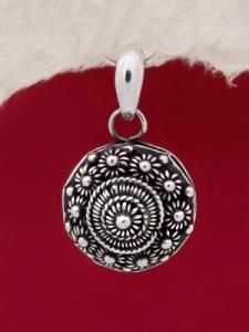 Сребърен медальон филигран STP140