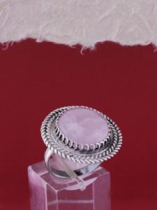 Сребърен пръстен филигран STR135 - Розов кварц
