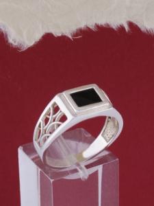 Мъжки сребърен пръстен R013t