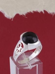 Мъжки сребърен пръстен R014t