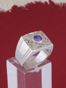 Мъжки сребърен пръстен R023t