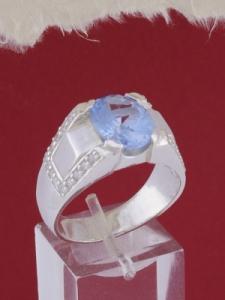 Мъжки сребърен пръстен R663s