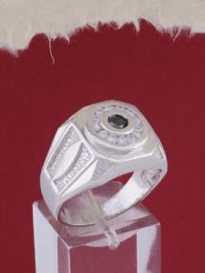 Мъжки сребърен пръстен R028t