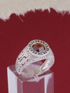 Мъжки сребърен пръстен R030t
