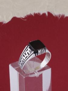 Мъжки сребърен пръстен R033t