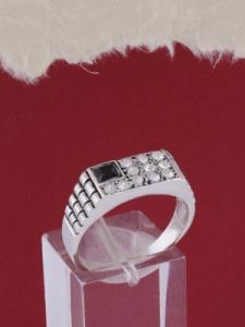 Мъжки сребърен пръстен R042t