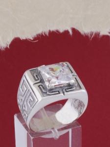 Мъжки сребърен пръстен R048t