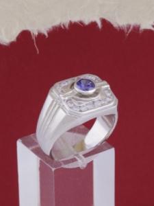 Мъжки сребърен пръстен R053t