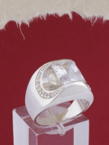 Мъжки сребърен пръстен R056t