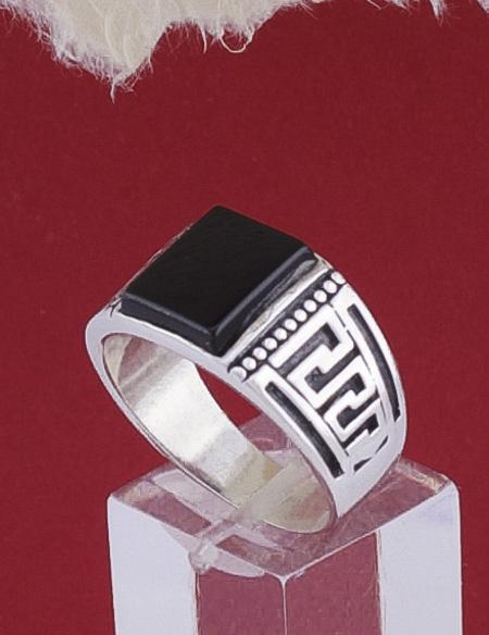 Мъжки сребърен пръстен R133