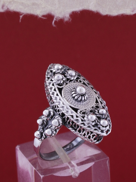 Сребърен пръстен филигран FR2001
