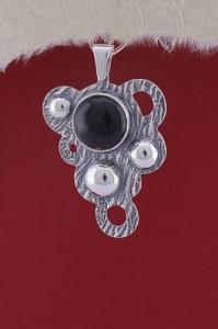 Медальон от сребро PKWS1A- Оникс