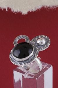Пръстен от сребро RKWS1A - Оникс