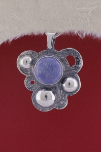 Сребърен медальон PKWS1 - Син кварц