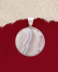 Сребърен медальон PKWS3 - Ивичест ахат