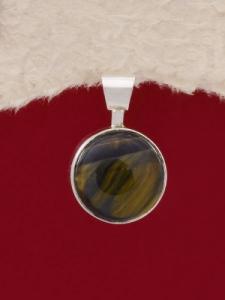 Сребърен медальон PKWS3A - Тигрово око
