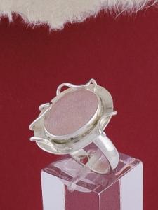 Сребърен пръстен RKWS6 - розов кварц