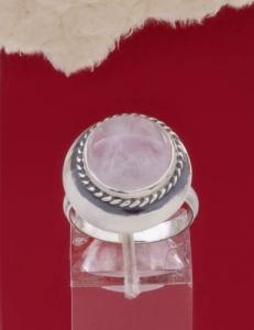 Сребърен пръстен RKWS12 - Розов кварц
