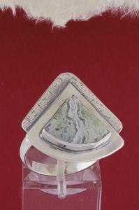 Сребърен пръстен - RKWS19 - Мъхов ахат