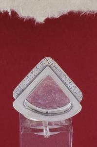 Сребърен пръстен - RKWS19 - Родонит