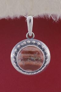 Сребърен медальон PKWS26 - Брекча яспис