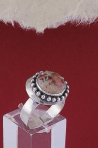 Сребърен пръстен RKWS26 - Брекча яспис