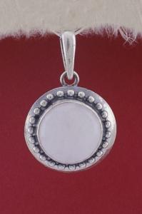 Медальон PKWS26 - Млечен кварц