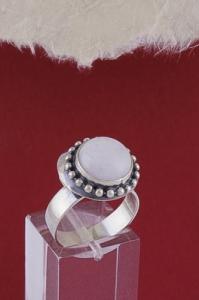 Сребърен пръстен RKWS26 - Млечен кварц