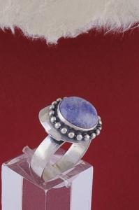 Сребърен пръстен RKWS26 - Син кварц