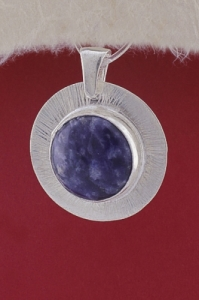 Сребърен медальон PKWS27A - Дюмортиерит