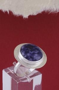 Сребърен пръстен RKWS27A - Дюмортиерит