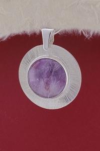 Сребърен медальон PKWS27A - Аметист
