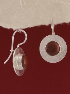 Сребърни обеци EKWS27A - Червен яспис