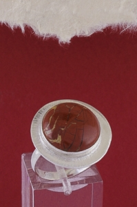 Сребърен пръстен RKWS27A - Червен яспис